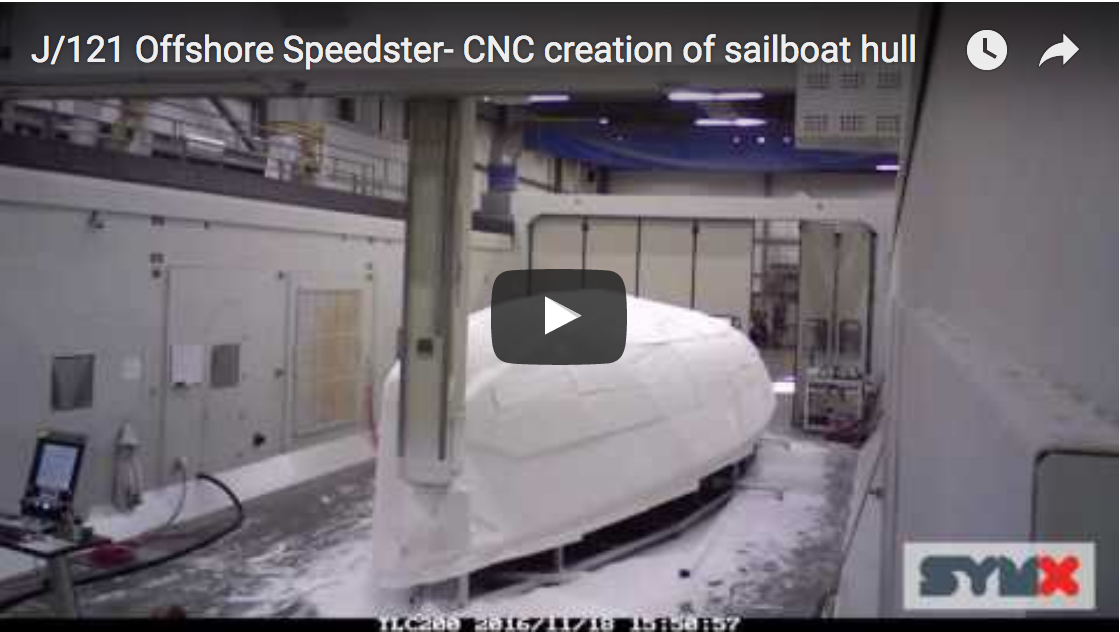 J121 hull CNC machining video
